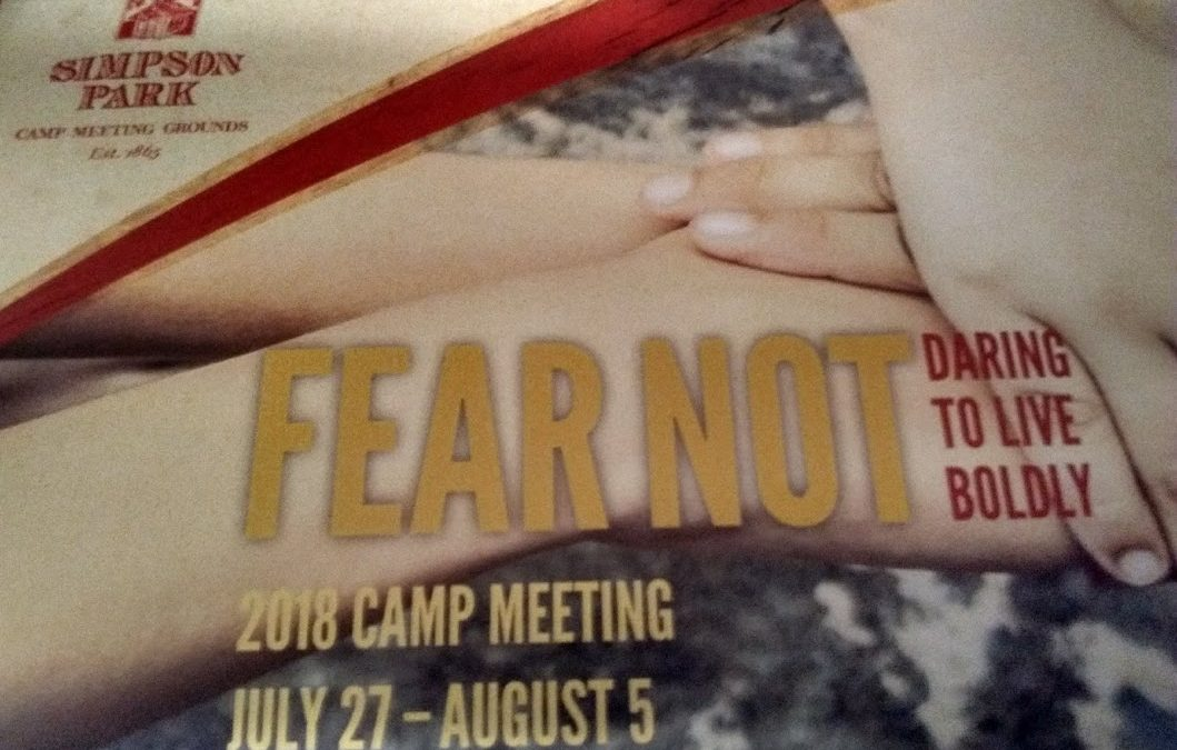 Annual Camp Meeting at Simpson Park Camp, July 27 – August 5
